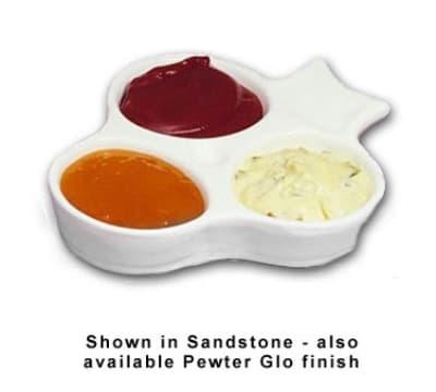 Bon Chef 9064S FGOLD 2-oz Sauce Dish, 3-Compartment, Aluminum/Fiesta Gold