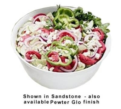 Bon Chef 9069S WH 6-qt Tulip Bowl, Aluminum/White