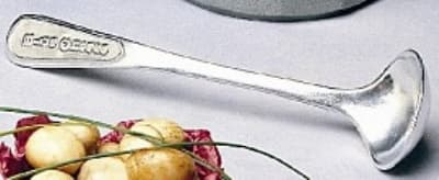 Bon Chef 9072S IVOS Salad Dressing Ladle, VINAIGRETTE, Aluminum/Ivory Speckled