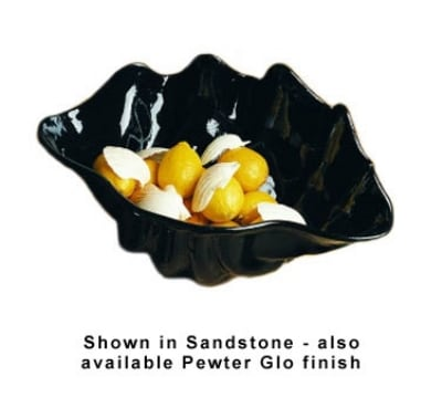 Bon Chef 9076S WH 4-qt Conch Shell Bowl, Aluminum/White