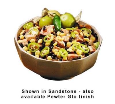 Bon Chef 9090S WH 2-qt Prism Serving Bowl, Footed, Aluminum/White