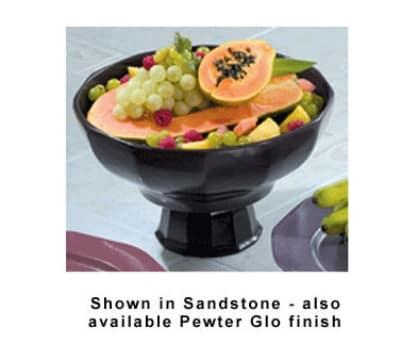 Bon Chef 90919113S WH 4-qt Prism Serving Bowl, Footed w/  Pedestal, Aluminum/White