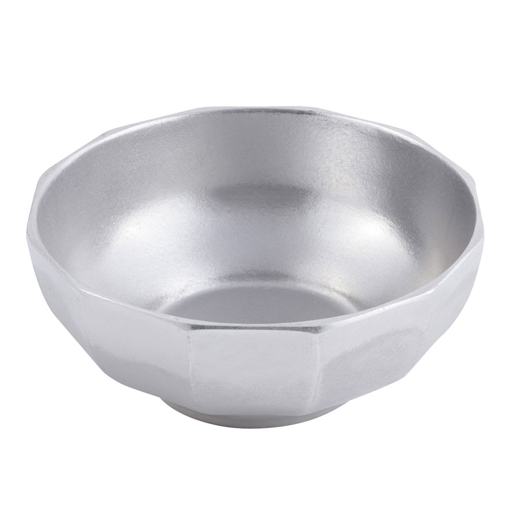 Bon Chef 9093P 12 qt Prism Serving Bowl, Footed, Aluminum/Pewter-Glo
