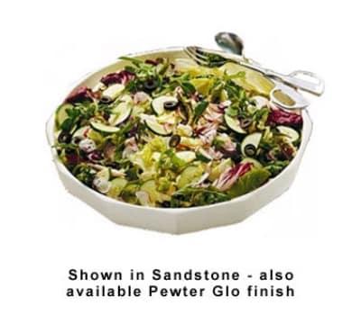 Bon Chef 9093S WH 12-qt Prism Serving Bowl, Footed, Aluminum/White