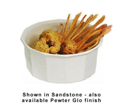Bon Chef 9095P 4.5-qt Flat Bottom Crock Bowl, Aluminum/Pewter-Glo