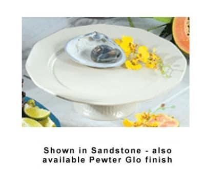 """Bon Chef 90979059S BLK 13"""" Prism Pedestal Underliner Plate, Aluminum/Black"""