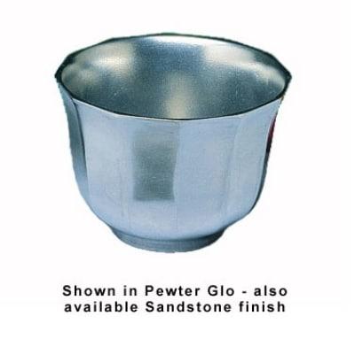 Bon Chef 9107P 3.5-qt Prism Salad Bar Garnish Bowl, Aluminum/Pewter-Glo