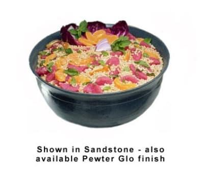 Bon Chef 9131P 4.06-Gallon Tulip Bowl, Aluminum/Pewter-Glo