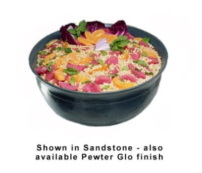 Bon Chef 9131S WH 4.06-Gallon Tulip Bowl, Aluminum/White