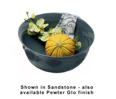 Bon Chef 9132P 7.19-Gallon Tulip Bowl, Aluminum/Pewter-Glo