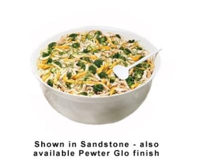 Bon Chef 9133S WH 11.09-Gallon Tulip Bowl, Aluminum/White