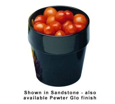Bon Chef 9141S BLK 5.38-qt Condiment Pot, Aluminum/Black