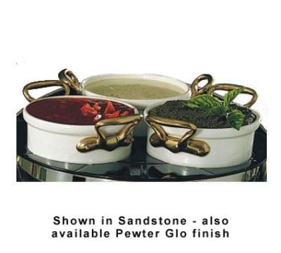 Bon Chef 9203HRS W 2.63-qt Rimmed Salad Dressing Crock, Aluminum/White