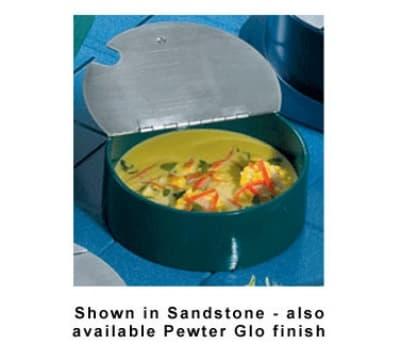 Bon Chef 9241S WH 5.38-qt Condiment Pot, Stainless Hinged Lid, Aluminum/White
