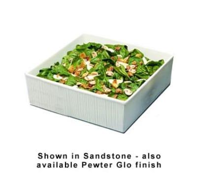 Bon Chef 9500S WH 7.25-Gallon Space Saver Salad Bar Bowl, Aluminum/White