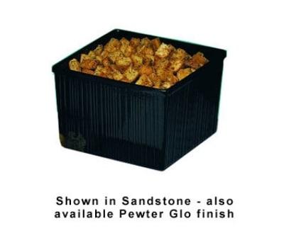 Bon Chef 9501S BLK 7.41-qt Space Saver Garnish Bowl, Aluminum/Black