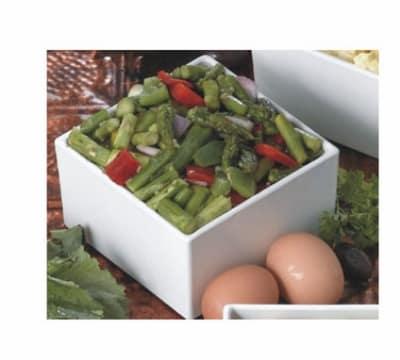 "Bon Chef 9506S WH 19.5"" Oblong Salad Bar Bowl, Aluminum/White"