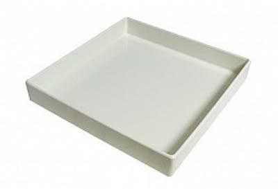 """Bon Chef 9516S WH 1.5-qt Straight Bowl, 10 x 10 x 1.5"""", Aluminum/White"""
