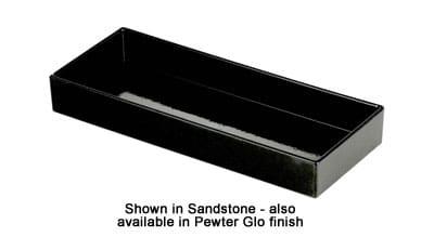 "Bon Chef 9532S BLK Rectangle Tray, 6 x 15 x 2"", Black"