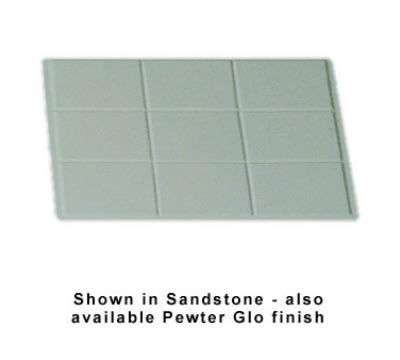 Bon Chef 960012SWH 1/2-Size Tile Tray, Aluminum/White