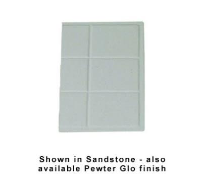 Bon Chef 960013P 1/3-Size Tile Tray, Aluminum/Pewter-Glo