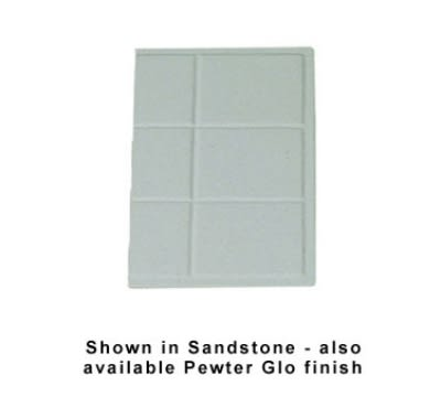 Bon Chef 960013SBLK 1/3-Size Tile Tray, Aluminum/Black