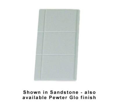 Bon Chef 960014SWH 1/4-Size Tile Tray, Aluminum/White