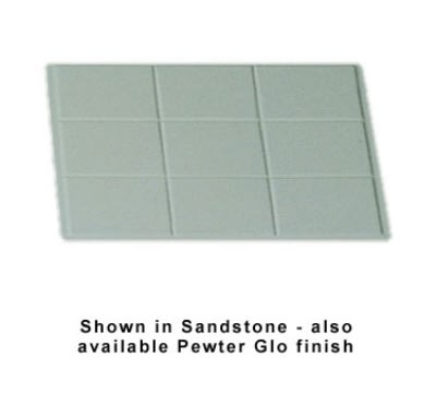 Bon Chef 960015067S WH Custom Cut Tile Tray for 5067, Aluminum/White