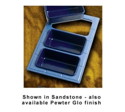 Bon Chef 960035086P Custom Cut Tile Tray for (3) 5086, Aluminum/Pewter-Glo