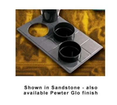 Bon Chef 960039013S WH Custom Cut Tile Tray for (3) 9013, Aluminum/White