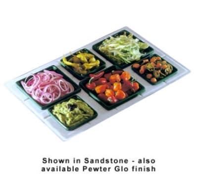Bon Chef 960095023P Custom Cut Tile Tray for (3) 9502 & (3) 9503, Aluminum/Pewter-Glo