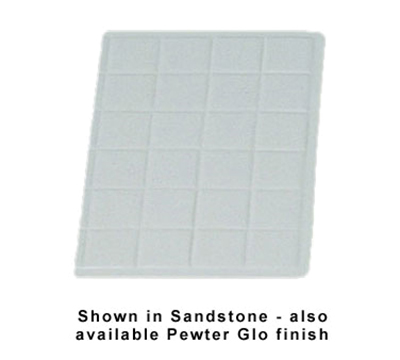 "Bon Chef 960113SBLK 1/3-Size Tile Tray, 13.5 x 9-7/16""., Aluminum/Black"