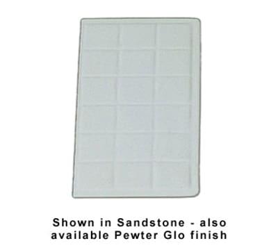 "Bon Chef 960114SWH 1/4-Size Tile Tray, 13.5 x 7-1/16""., Aluminum/White"