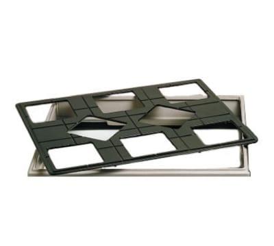 "Bon Chef 960589502S BLK 27"" Custom Cut Tile Tray for (8) 9502, Aluminum/Black"
