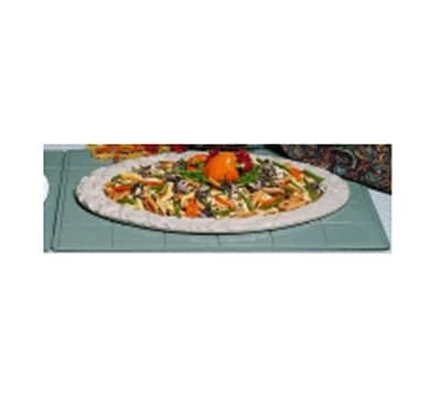 """Bon Chef 9605H2082S WH 27"""" Double Size Tile Tray for 2082, Aluminum/White"""