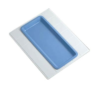 "Bon Chef 9605H5101S WH 27"" Double Size Tile Tray for 5101, Aluminum/White"