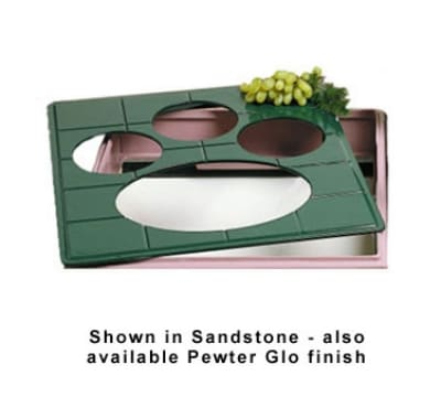 """Bon Chef 96062104P 1-1/2-Size Tile Tray for 2104, 19.5 x 21.5"""", Aluminum/Pewter-Glo"""