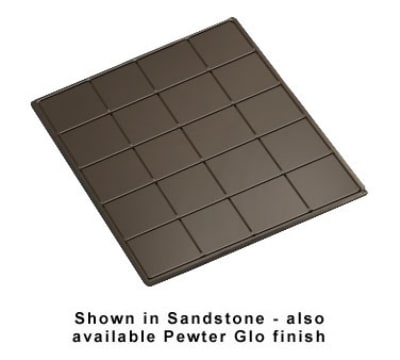 "Bon Chef 96066051S BLK 1-1/2-Size Tile Tray for 6051, 19.5 x 21.5"", Aluminum/Black"