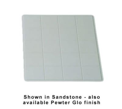 "Bon Chef 9606S WH 1-1/2-Size Tile Tray, 19.5 x 21.5"", Aluminum/White"