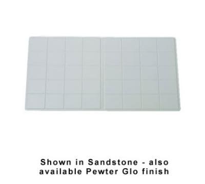 "Bon Chef 9608S WH Triple Size Tile Tray, 41 x 21.5"", Aluminum/White"