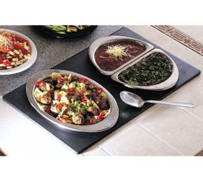 Bon Chef 961030 BLK Single Size Tile Tray for (1) 5203 & (2) 5202, Black
