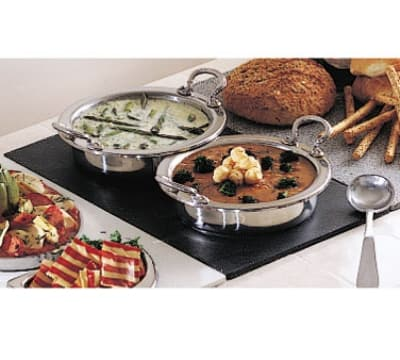 Bon Chef 961040 BLK Single Size Tile Tray for (2) 5211, Black