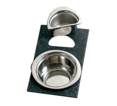 Bon Chef 961045 BLK Single Size Tile Tray for (1) 5260 & (1) 5202, Black