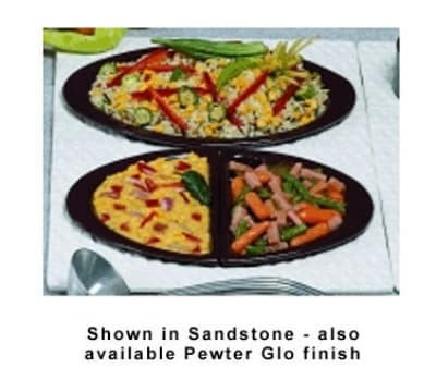 Bon Chef 963025102P Single Size Tile Tray For (2) 5102, Aluminum/Pewter-Glo