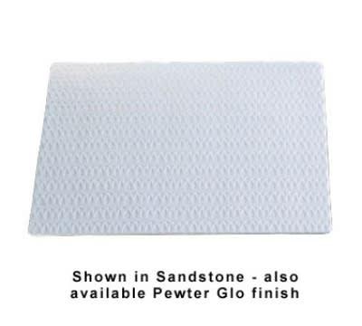 "Bon Chef 9632S WH Double Size Tile Tray, 27 x 21.5"", Trellis, Aluminum/White"