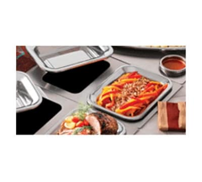 Bon Chef 966053 Custom Cut Tile Tray w/  Cutouts for (2) 5220, Stainless