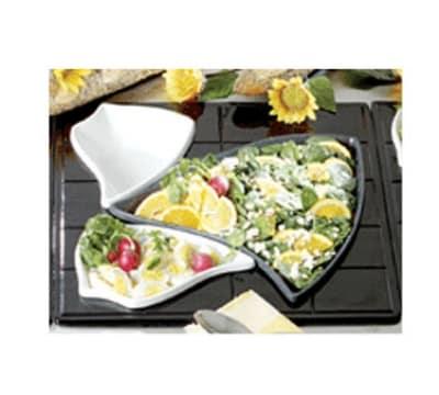 Bon Chef 9666S WH Custom Cut 1-1/2 Tile for (2) 70006 & (1) 70009, Aluminum/White
