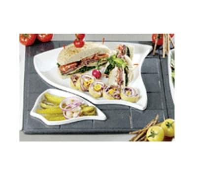 Bon Chef 9667S WH Custom Cut 1-1/2 Tile for (2) 70006 & (1) 70004, Aluminum/White