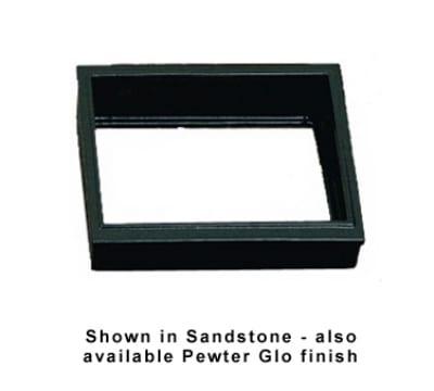 "Bon Chef 9702S BLK 1/2-Size Riser, 13-1/8 x 10.75"", Aluminum/Black"