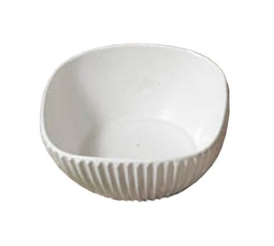 "Bon Chef 9912P 8"" Square Ribbed Bowl, Aluminum/Pewter-Glo"